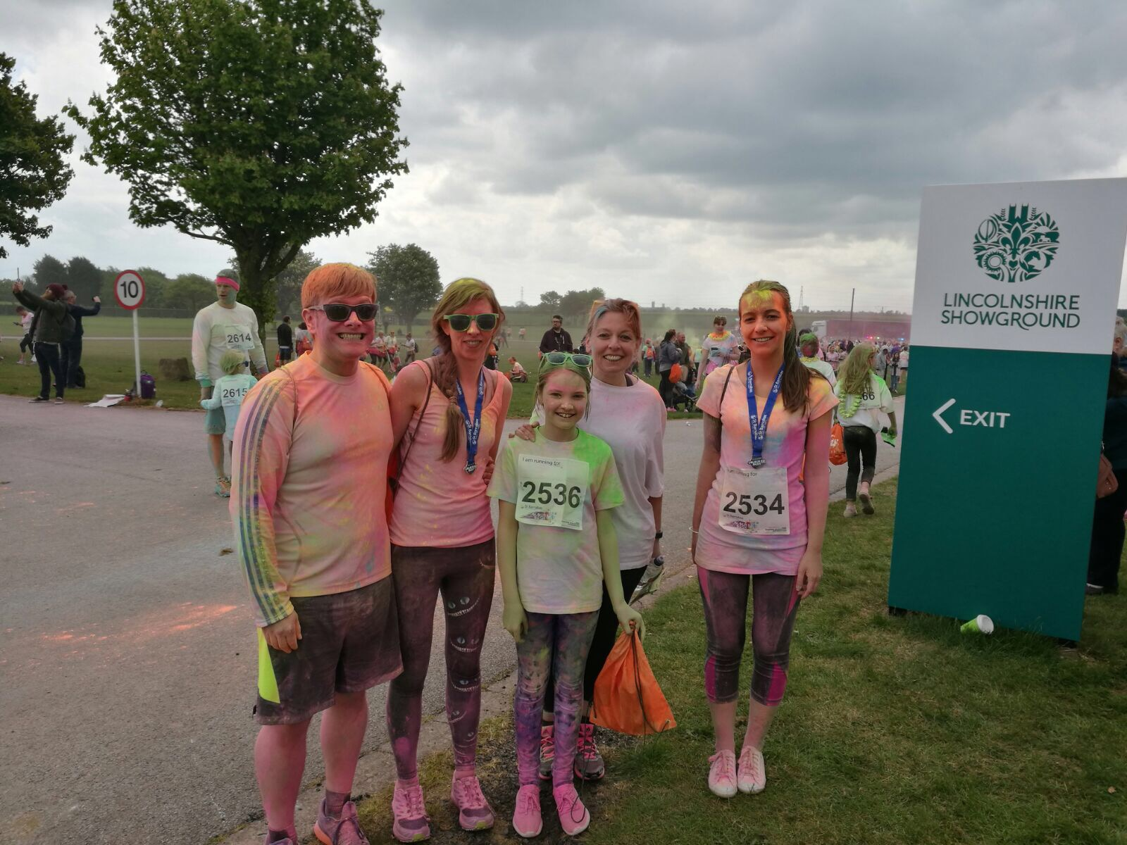 Family members have signed up to the St Barnabas Inflatable Colour Dash