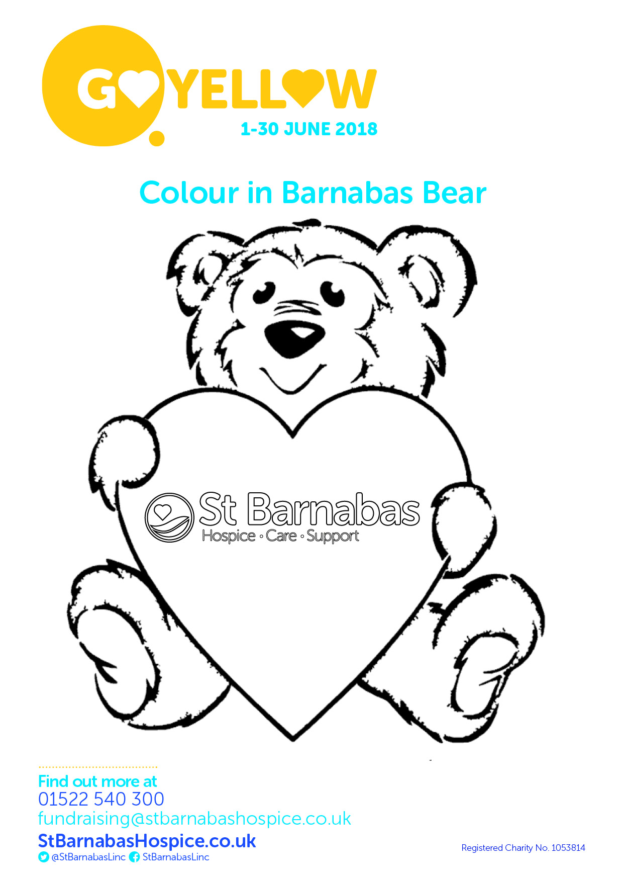 Go Yellow Colouring Poster