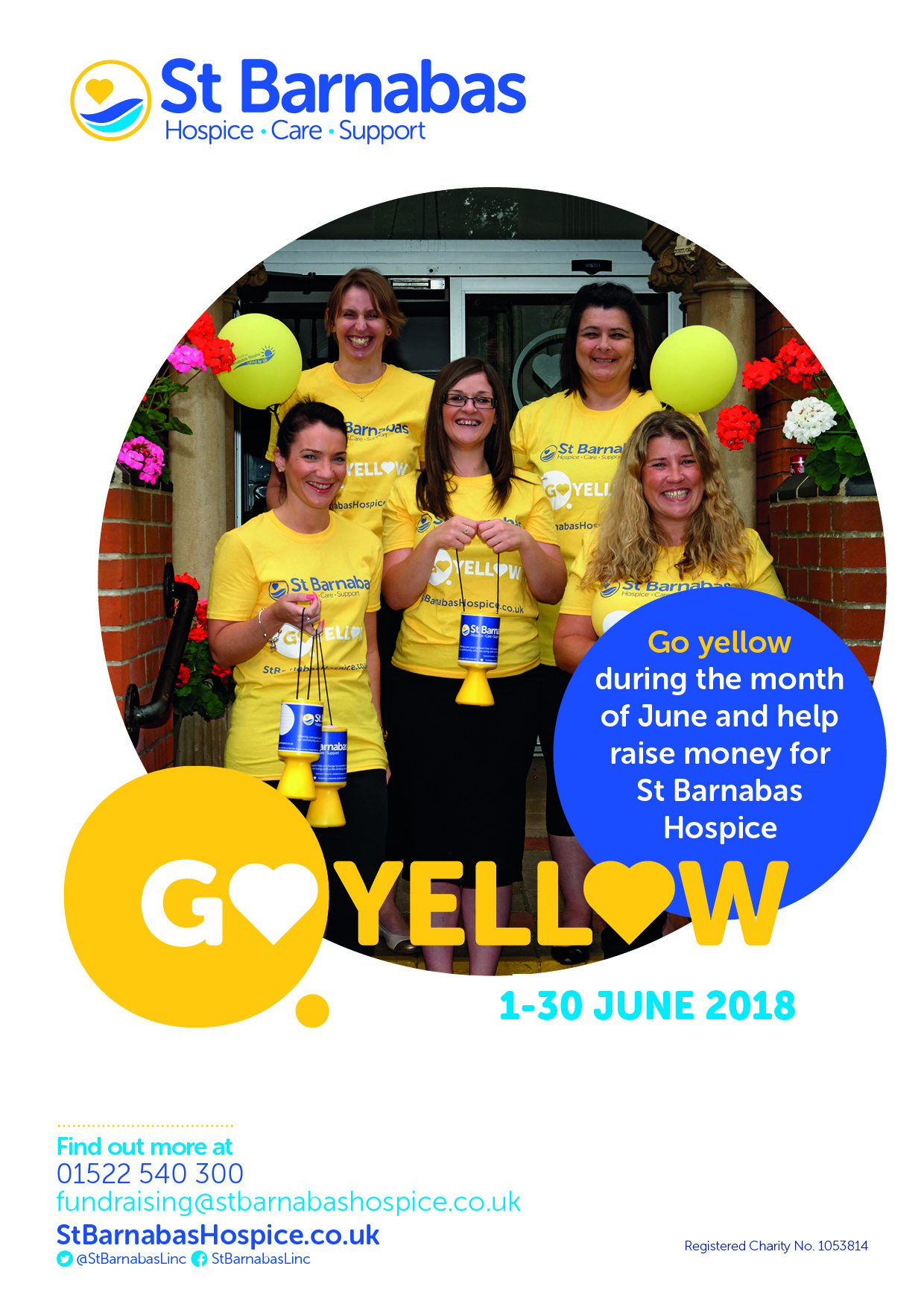 Go Yellow A4 Poster