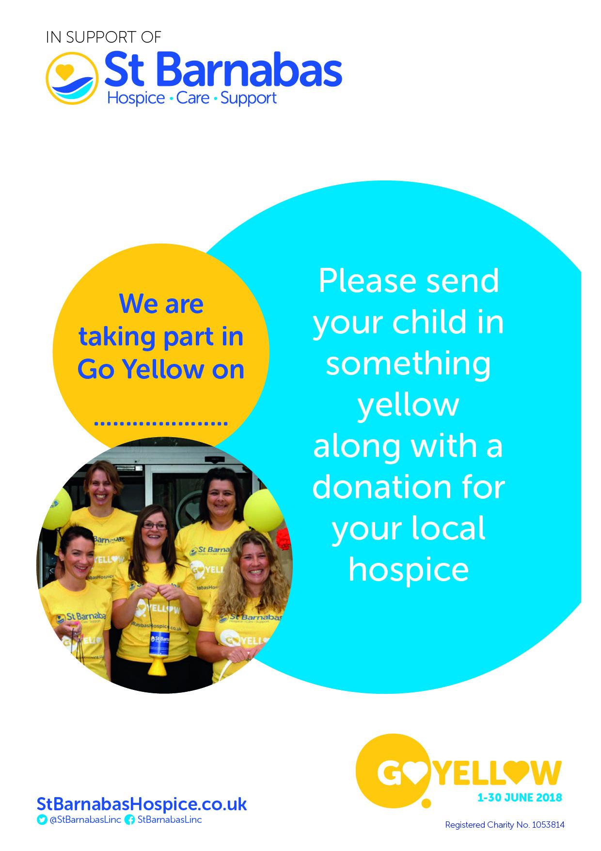 Go Yellow Schools Event Poster