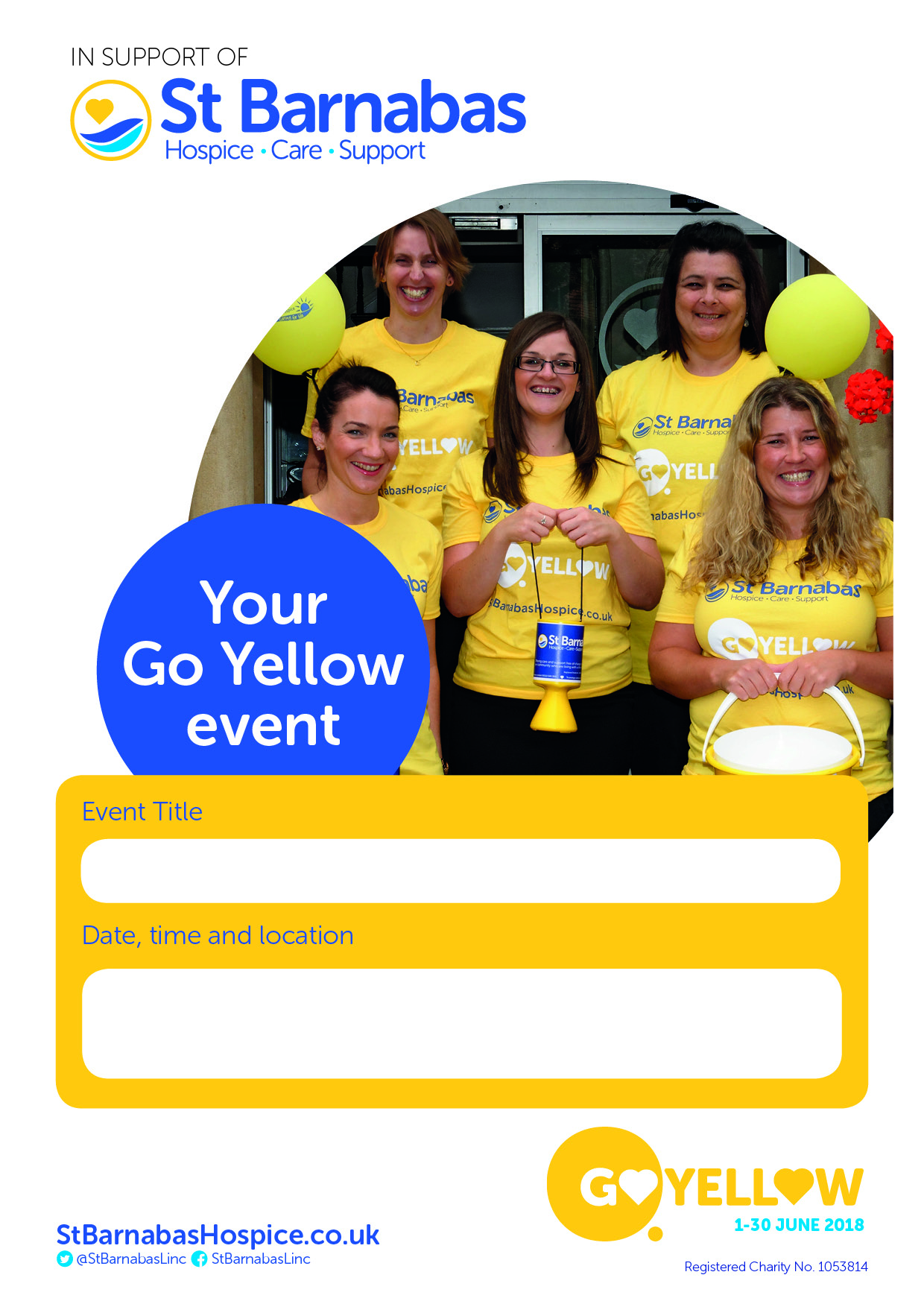 Go Yellow Your Event Poster