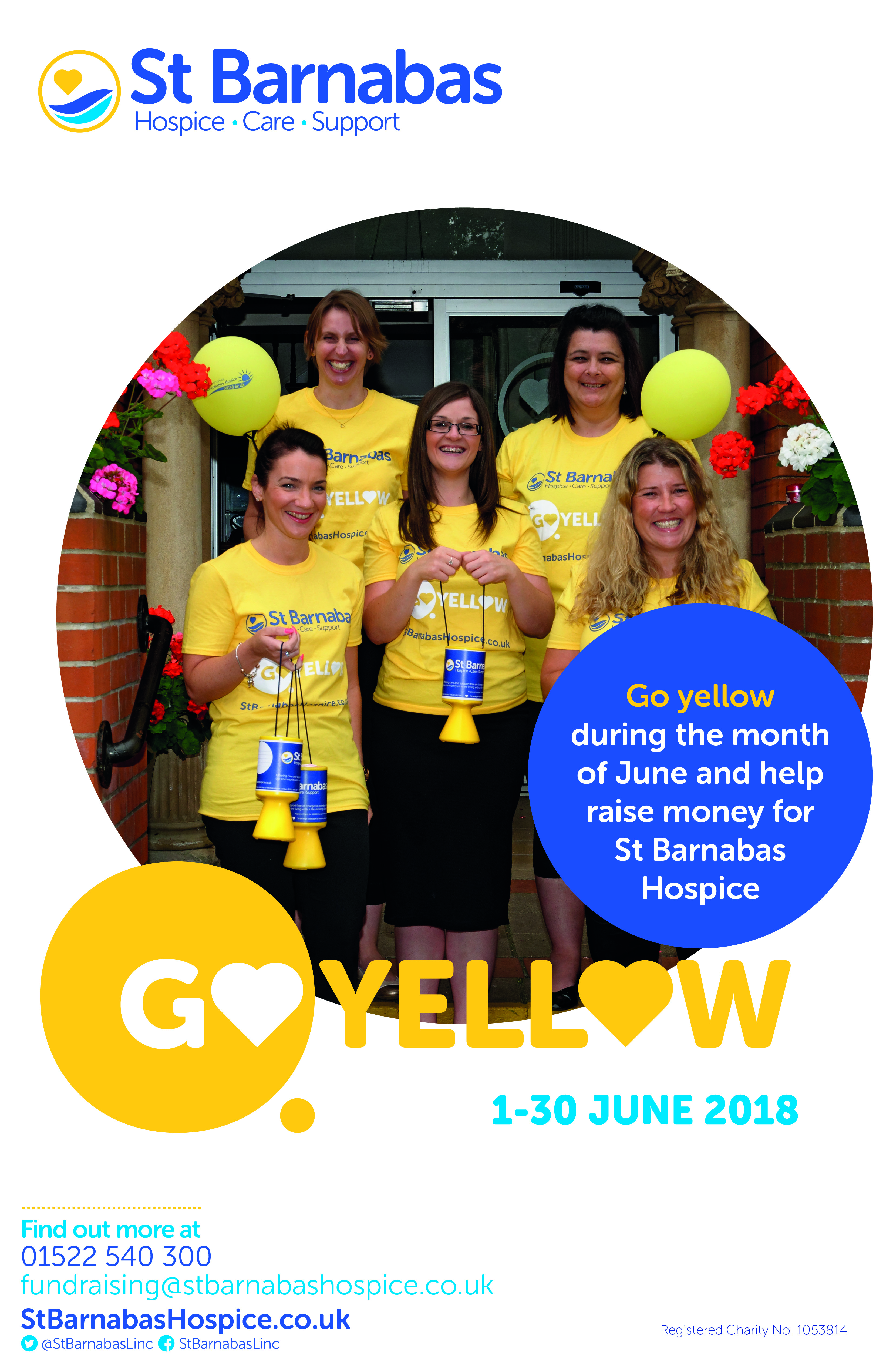 Go Yellow Display Board Poster
