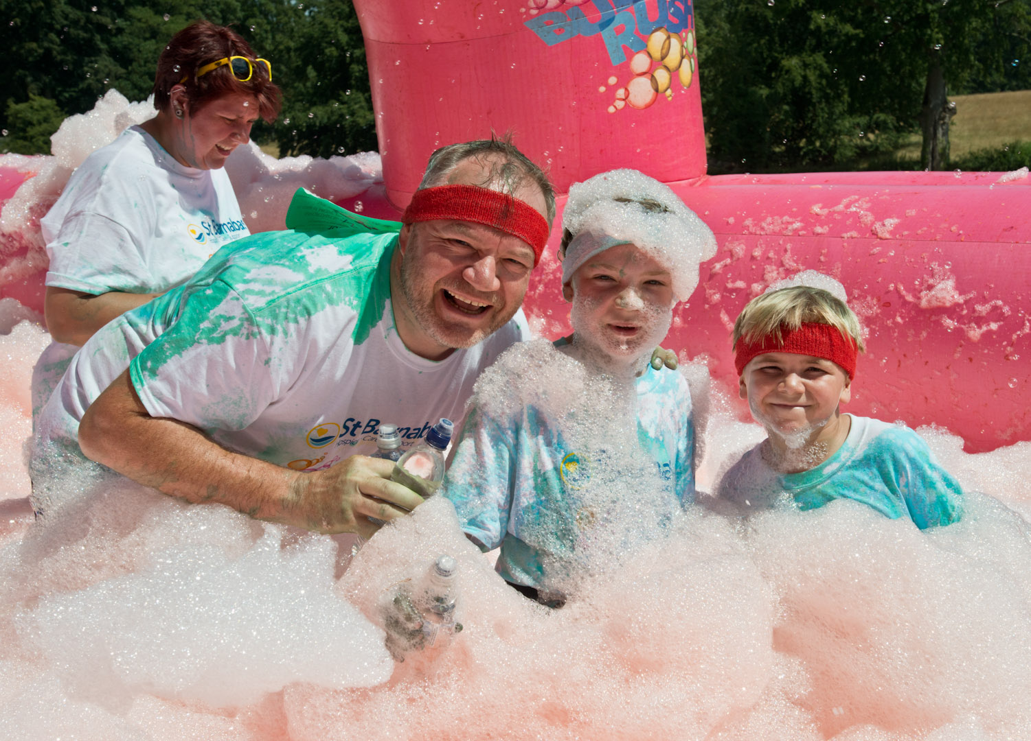 Almost £25,000 has been raised at the successful Bubble Rush