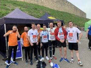Pygott & Crone team after the Lincoln 10k