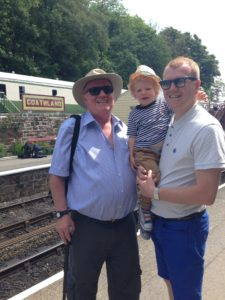 Nigel, grandson Jai and son Jamie