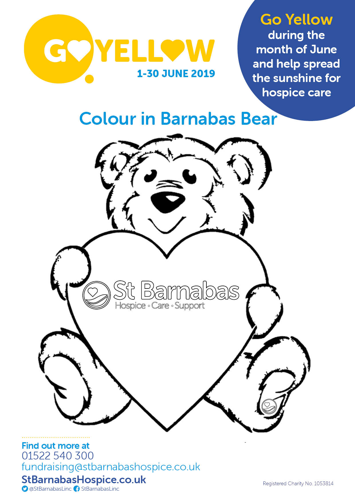 Go Yellow Schools Colouring Poster