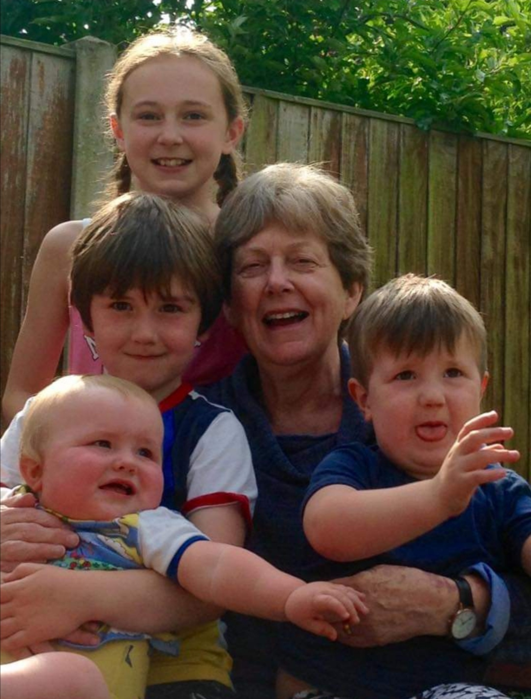 Jackie and her grandchildren