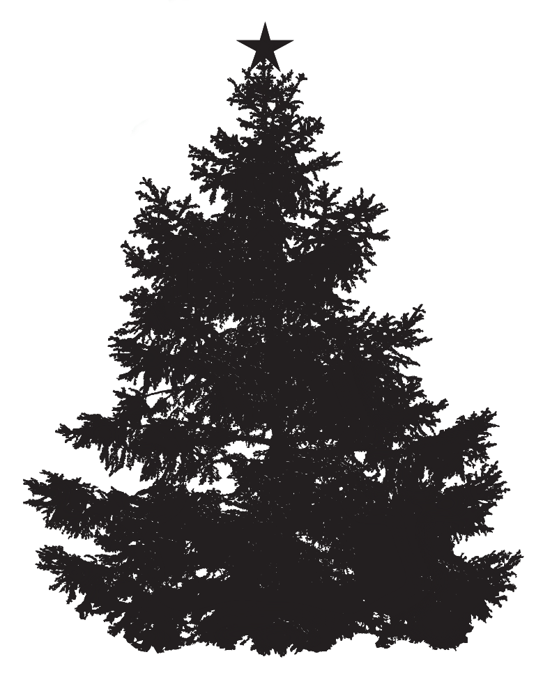 christmas tree silhouette | St Barnabas Hospice