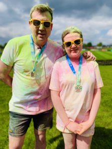 John and Eleanor at the Colour Dash