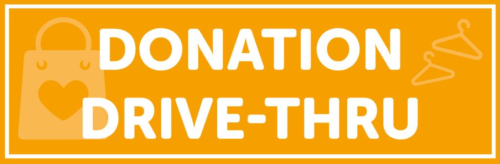 Donation Drive-Thru Banner