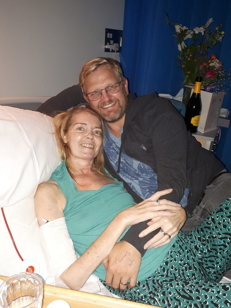 Neil and Dawn in the Hospice