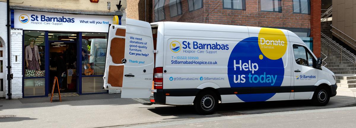 Van at St Barnabas shop